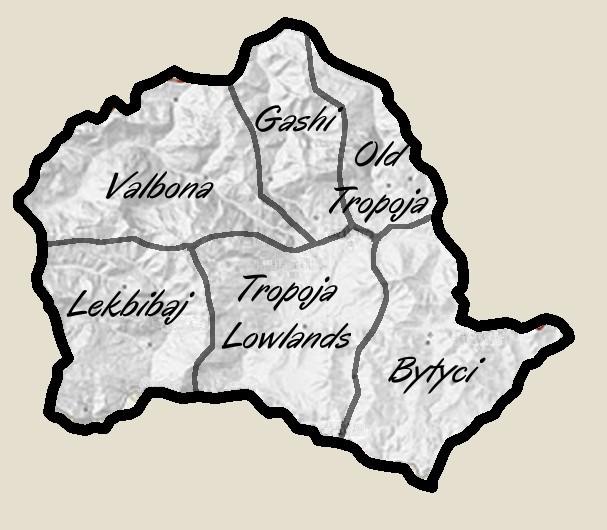 Tropoja Map